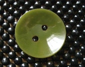 Big chartreuse bakelite button mid century style