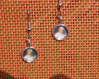 Jane Austen Portrait Cabochon Earrings
