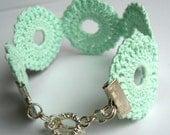 Mint Medallion Crochet Bracelet
