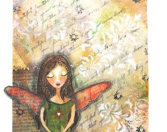 Gratitude Girl Green