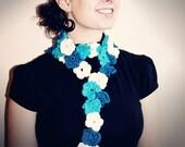 Flower Scarf Crochet Pattern PDF
