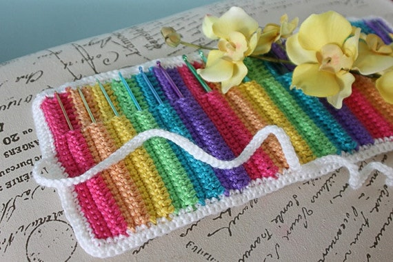 Instant Download - CROCHET PATTERN PDF Love Knot Crochet Hook Organizer - Crochet Hook Case - Permission To Sell Finished Items