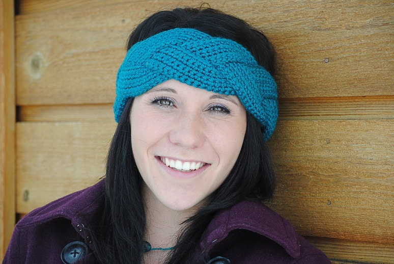 Free Crochet Braided Ear Warmer Pattern : Instant Download CROCHET PATTERN PDF Natalie Braided Ear