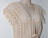 Exotic Crochet Vest with Morrocan Flare