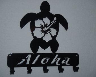 Aloha, Hawaii Key Rack, Wall decor, Metal Art