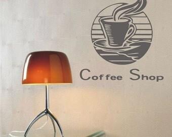 Coffee Vinyl Decal, Wall Sticker, Wall Tattoo