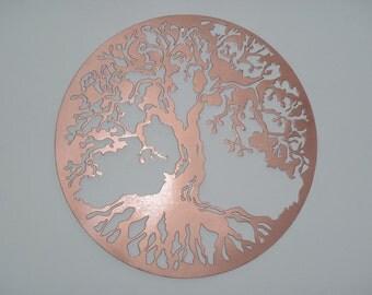Tree Of Life, Wall decor, Metal Art - Copper look