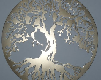 Tree Of Life, Wall decor, Metal Art - GOLDEN Look, 75 cm, 29.5 inches