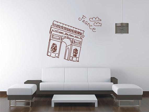 Paris arc de triomphe wall sticker vinyl decal wall tattoo for Arc de triomphe wall mural