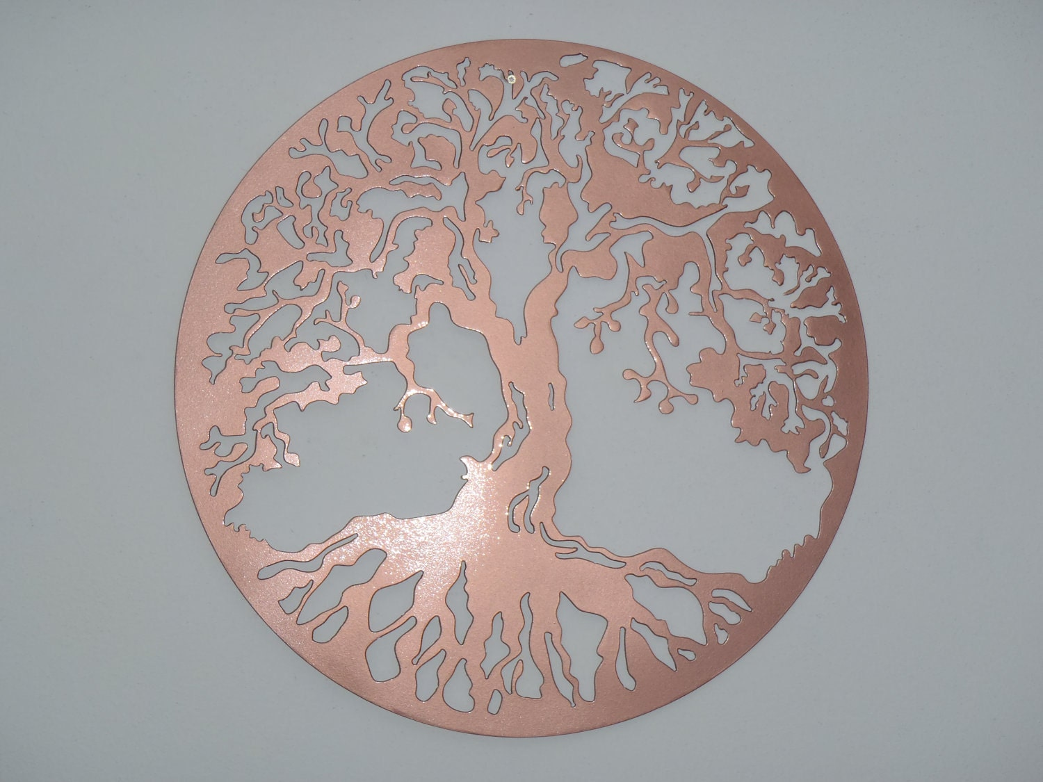 Tree of life wall decor metal art copper look for Copper wall art