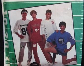 Vintage McCalls 3412 Men's nightshirt, top, pants and shorts. XL