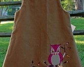 Appliqued Owl Dress