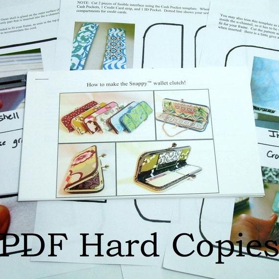 Snappy(TM) Wallet Clutch Tutorial PDF Hard Copies