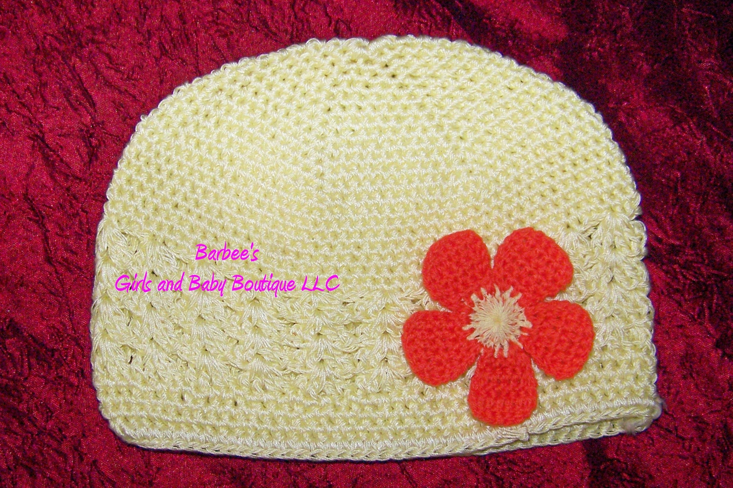 Kufi Beanie Hat Crochet Pattern : Infant Crochet Beanie / Kufi Hats with Crochet Flower Crochet