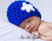 Crochet American Flag Patriotic Baby Beanie Newborn 0-3 and 3-6 Months Photography