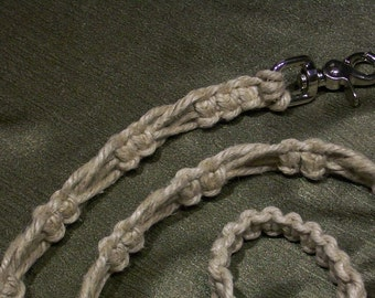 The Knot So Plain Hemp Dog Leash