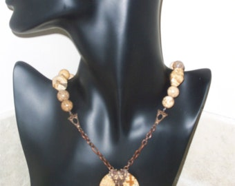 Picture Jasper & Antiqued Copper accents (item 6111)