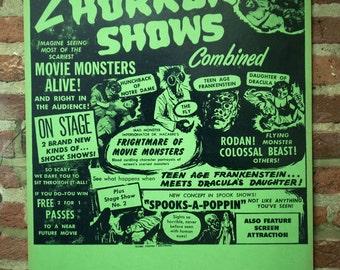 Vintage Horror Movie Letterpress Print