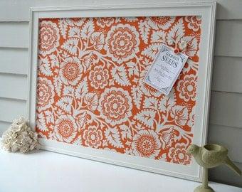 Magnet Board   Storage Organizer Bulletin Board Framed Magnetic 20.5 X 26.5  Orange Blossom   Memo