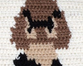 Crocheted Goomba Wall Hang