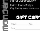 GIFT CERTIFICATE - 50 Dollars