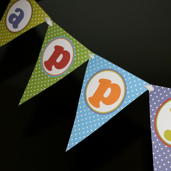 Items Similar To Happy Birthday Banner Fiesta Print Your