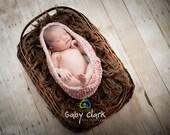 Pink and Cream Newborn Pea Pod Bowl