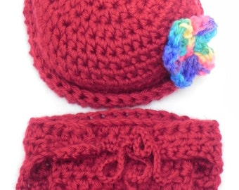 Diaper Cover and Hat Set INVENTORY REDUCTION SALE  Only One Available