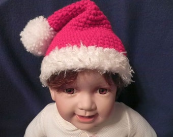 Santa Hat 6 month size READY TO SHIP