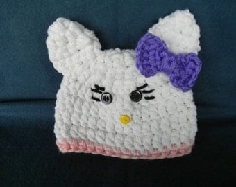 Hello Kitty  Hat  CUSTOMIZE SIZE and COLORS