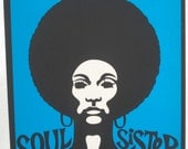 "Reserved for Bev"" Soul Sister "" If you are not Bev. Please DO NOT Purchase Original Vintage Poster"