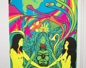 "SALE  ""Earth Love It or Leave It"" Blacklight FREE Ship  Original Vintage Poster"