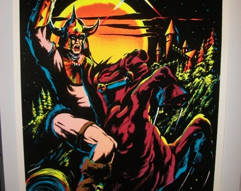 "Blacklight  ""Knight"" 1984    Original Vintage Poster"