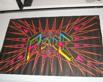 "Blacklight ""Peace Explosion"" 1971 Original  Vintage  Poster"