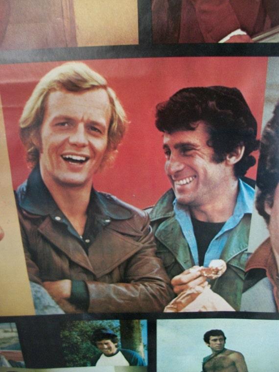 "SALE  Original Vintage 1976 ""Starsky and Hutch Collage"" Poster"