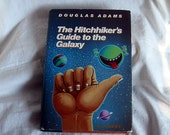 Hard cover for Kindle, Nook, E-reader. Lined hardback book Hitchhiker's Guide