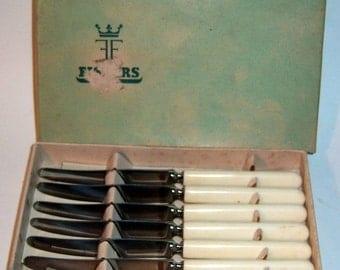 Vintage Set of 6 Fiskars Fish Knives