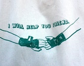 Roller Derby Tote Bag, I Will Help You Friend