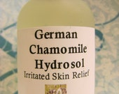 BEST SELLER - Organic German Chamomile Hydrosol, Soothing, Anti-bacterial, 100% Organic, Children's Skin, Teething - Skin Healing, Pet Care