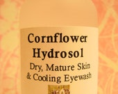 Organic Cornflower Hydrosol Distillate - Great for Sensitive, Dry, Mature Skin-- Very Hydrating, Humectant, Special -100% Organic Hydrosol