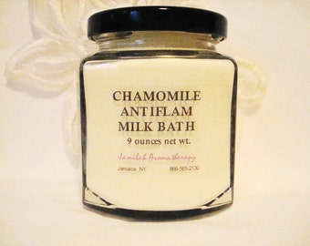 Chamomile Milk Bath With Wildcrafted & Organic Essential Oils to Moisturize, Soothe, Support Inflammed Skin, 9 oz.
