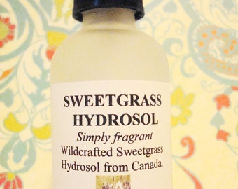 BEST SELLER - Sweetgrass Hydrosol, Clearing, Wildharvested Distillate Refreshes Air, Restores Positive Energy, Opening Fragrance, Purifying