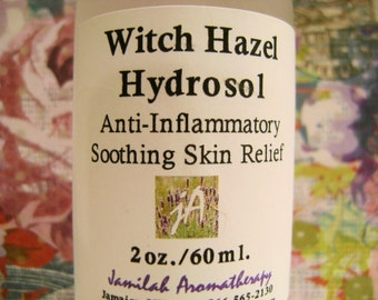 BEST SELLER - Organic Witch Hazel Hydrosol, Versatile Skin Care, Sensitive Skin, Oily, Cracked & Dry, Pimples, Soothe Cleanse Inflammed Skin