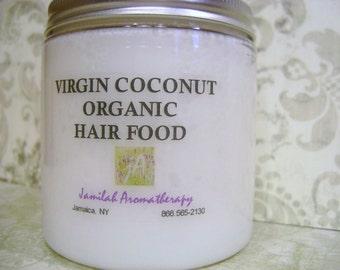 BEST SELLER - Virgin Organic Coconut Hair Food with Lavender, Cedarwood, Rosemary, Ayurvedic Neem for Hair & Scalp, Hair Growth, Scalp Care