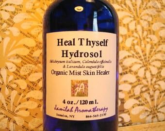 SALE: Organic Heal Thyself Hydrosol, Effective Hydrosol Skin Blend, Helichrysum, Calendula, Lavender, Mother Nature's Best, Irritated Skin