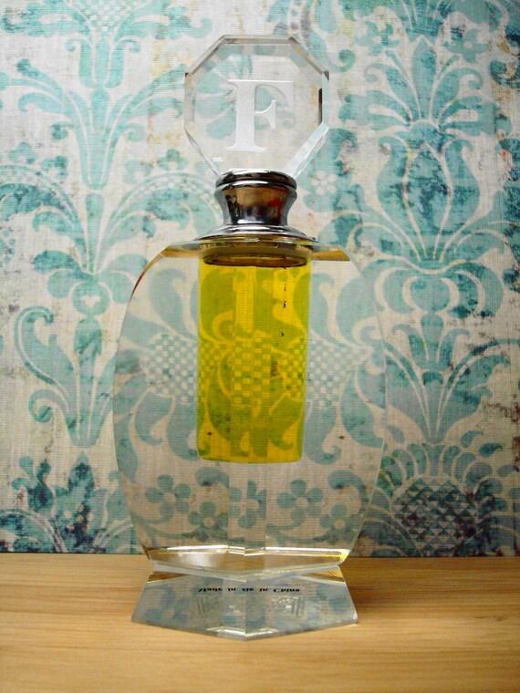 Moon Flower Petals, Still Water Meditation, Serenity Stream Wildcrafted Fragrances - Beautiful Handmade Monogrammed Crystal Bottle, 15 ml.