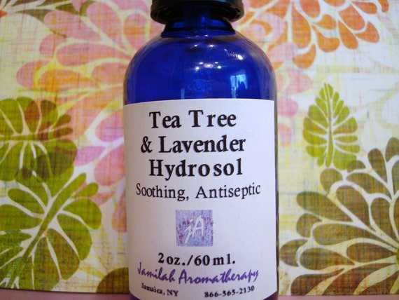 Organic Tea Tree & Lavender Hydrosol - Soothing Antiseptic for Skin Abrasions, Anti-fungal, Anti-Infectious, Fragrant 100% Organic Hydrosol