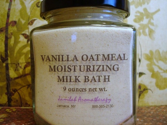 Vanilla Bourbon Wildcrafted Essential Oil & Colloidal Oatmeal Milk Bath Soften, Moisturize, Calm Skin, 9 oz.