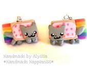 Nyan cat earrings