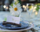 20 Rustic wood/ branch/ stick place card holders for a wedding or party